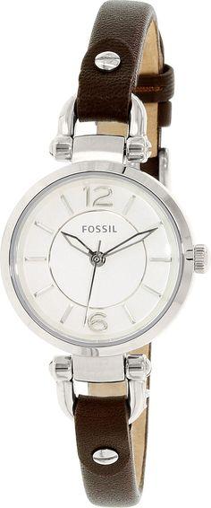 Fossil Womens Georgia ES3861 Brown Leather Quartz Fashion Watch