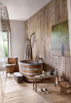 حمامات بطابع ريفي مميز !