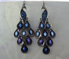 Fancy peacock earings