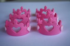 Princess Crown Fondant Cupcake Toppers by Clementinescupcakes, $18.95
