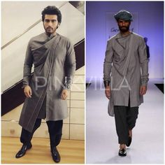 Arjun Kapoor in Antar - Agni Mens Indian Wear, Indian Groom Wear, Indian Men Fashion, Indian Bridal Fashion, Indian Man, Mens Fashion, Kurtha Designs, Kurta Men, Kurta Style