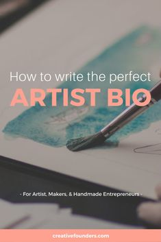 Artist Bios: Everything you need to know about writing the perfect Artist Biography. What is an artist bio and why is it important? What should I include in my artist bio? Top tips on writing your artist bio.
