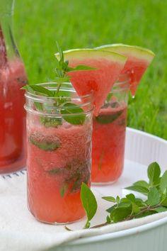 Watermelon mojito [ MyGourmetCafe.com ] #drinks #recipes #gourmet