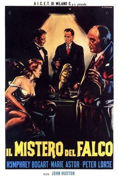 The Maltese Falcon 1940 Starring Humphrey Bogart Mary Astor Gladys George And Peter Lorre Maltese Falcon Movie Maltese Movie Posters