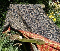 Shabbie — Black Vintage Kantha Throw