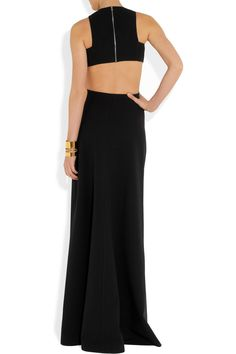 Michael Kors Cutout stretch-wool gown; one of the nicest dresses EVER