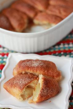 Apple Dumplings-Trisha Yearwood recipe using Pillsbury biscuits.