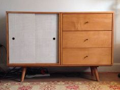 Mid-Century 1950's Paul McCobb maple Planner Group 3-unit Credenza | Antiques, Periods & Styles, Mid-Century Modernism | eBay!