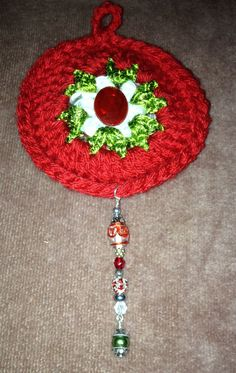 Crocheted and beaded ornament  Feb. 12, 2014