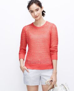Open Stitch Sweater | Ann Taylor