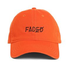 Faded Strapback ($38) ❤ liked on Polyvore featuring accessories, hats, cap hats, adjustable hats, 6 panel cap, cotton cap and sun visor cap