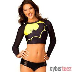 cyberteez.com - Batgirl Batman Rash Guard Surf Top Bathing Suit Womens Juniors Girls Swimwear, $39.95 (http://www.cyberteez.com/swimwear/batgirl-batman-rash-guard-surf-top-bathing-suit-womens-juniors-girls-swimwear/)