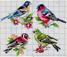 Αποτέλεσμα εικόνας για parrots cross stitch chart