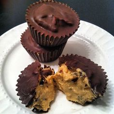Ripped Recipes - Protein Cookie Dough Peanut Butter Cups - A clean treat. Yes, clean and SO DAMN GOOD. Yes, I had chocolate at breakfast, yes I am having more chocolate before bed (and peanut butter of course).