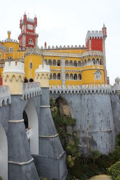 Free Image on Pixabay - Castle, Palace, Sintra, Portugal Portugal Travel Guide, Europe Travel Guide, Travel Tours, Travel Destinations, Sintra Portugal, Best Places To Travel, Places To Visit, Pena Palace, Beautiful Castles