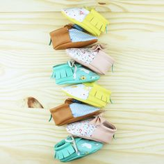 SUMMER MOCCS | Baby moccs, leather moccasins, baby shoes, little fashion shoes