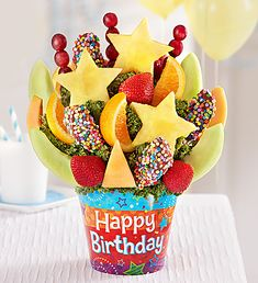 Fresh fruit delivery is fun with delicious fruit arrangements from Fruit Bouquets, fruit baskets to chocolate strawberries & more! Edible Arrangements Birthday, Fresh Fruit Delivery, Fruit Gifts, Birthday Desserts, Fruit Drinks, Delicious Fruit, Fruit Art, Chocolate Covered Strawberries, Culinary Arts