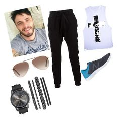 """""""look  caminhada"""" by brunacassettari on Polyvore featuring Blood Brother, New Balance, Tom Ford, men's fashion and menswear"""