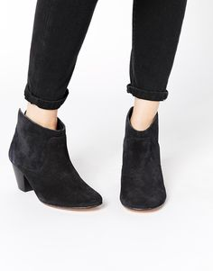 H+by+Hudson+Kiver+Black+Suede+Ankle+Boots