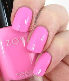 Zoya Kitridge - Bright Pink Nail Polish for a summer full of fun! http://www.zoya.com/content/category/Zoya_Tickled_Bubbly_Summer_2014_Nail_Polish_Collection.html