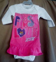 baby girl size 03 mos LSU first love onesie by LaLaLandGirlystuff, $14.00