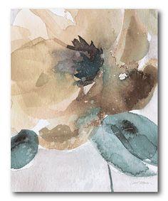 Look at this #zulilyfind! Watercolor Flower Bloom II Gallery-Wrapped Canvas #zulilyfinds