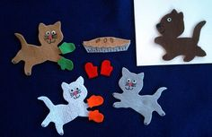 3 Little Kittens Flannel Board Felt Story Set AND by feltresources, $5.75