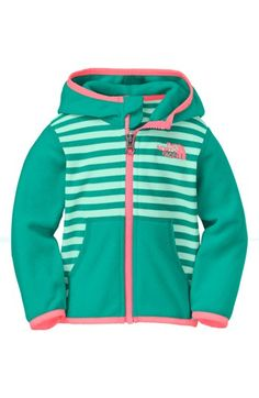 The North Face 'Glacier' Hoodie (Baby Girls) available at #Nordstrom