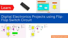 See digital electronics projects using flip flop switch circuit. Using JK flip-flop. To make Light sensor or simple touch switch circuit. Light Sensor Switch, Circuit Projects, Dim Lighting, How To Make Light, Electronics Projects, Flipping, Flip Flops, Coding, Digital
