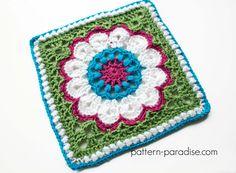 Free Crochet Pattern: Dahlia Afghan Square | Pattern Paradise