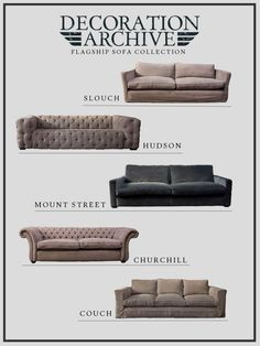 Decoration Archive Sofas Sofas, Archive, Couch, Elegant, Decoration, Furniture, Collection, Home Decor, Couches