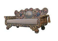 View this item and discover similar for sale at - a wonderful nautical theme sofa with a gracefully curved frame encrusted entirely with patterns of natural seashells, with rope trim and a centerpiece Nautical Furniture, Furniture Decor, Modern Furniture, Mosaic Furniture, Sea Theme, Nautical Theme, Decorating Your Home, Interior Decorating, Painted Boards