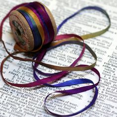4mm Hand Dyed Silk Ribbon for Embroidery and Needlecraft Dyed by Raesrags