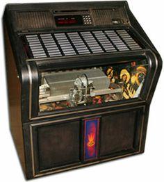 glass front juke box