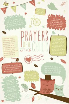 Prayers of a Child - Christian Posters