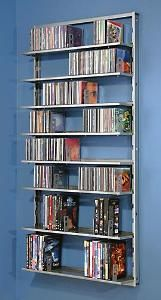 Wall Mounted Dvd Storage Design Garage Pinterest And Diy