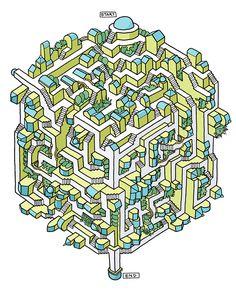 Post with 5457 votes and 134681 views. Tagged with maze, isometric, freehand, seancjackson; Mazes By Sean C Jackson 3d Maze, Maze Game, Maze Drawing, Reto Mental, Sudoku, Printable Mazes, Maze Design, Jackson, Mazes For Kids