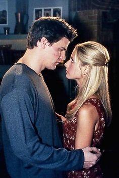 Sarah Gellar and David Boreanaz in Buffy the Vampire Slayer