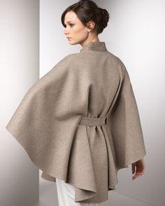 Loro Piana Sloane Cape - Neiman Marcus Cape Scarf, Cape Coat, Hijab Fashion, Fashion Outfits, Womens Fashion, Winter Cape, Cape Designs, Modest Outfits, Winter Fashion