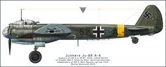 Aviation art made by Maciej Noszczak: Junkers Ju 88 A-4. KG 3.