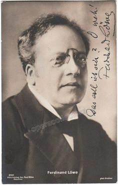 Lowe, Ferdinand - Signed Photo Postcard