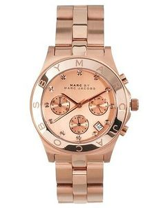 New Women's Marc Jacobs Blade Chrono Rose Gold Crystal Glitz Steel Watch MBM3102 #jewlery #watches #ladies wemans jewlery