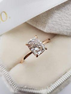 Elegant Engagement Rings, Cushion Cut Engagement Ring, Rose Gold Engagement, Diamond Engagement Rings, Wedding Rings, Vintage Gold Engagement Rings, Solitaire Rings, Rose Gold Diamond Ring, Wedding Band