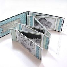 Embrace Serendipity: Baby Boy & Girl Accordion Zig Zag Mini Albums with Tutorial