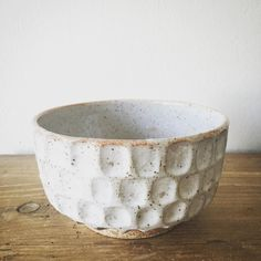 Large satin white and shino carved bowl. Happy friday everone! Xo #stoneware #ceramics #keramik by malindareich