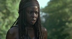 TWD S7 Ep4 The Service Michonne getting tired of Negan's shit.