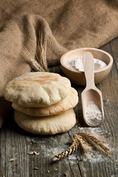 "Pita Bread - make ahead for sandwiches without all the ""bread"" - especially good to fill with salad and dressings and easy to eat at lunch"