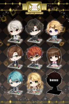 The product 5cm Mystic Messenger Charm Set is sold by Soundless Wind Shop in our Tictail store.  Tictail lets you create a beautiful online store for free - tictail.com