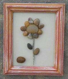 Check out this item in my Etsy shop https://www.etsy.com/listing/228034198/pebble-art-flower-set-in-a-5x6-open