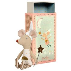 Maileg Girl Mouse Tooth Fairy in a Box